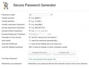 Secure Password Generator i